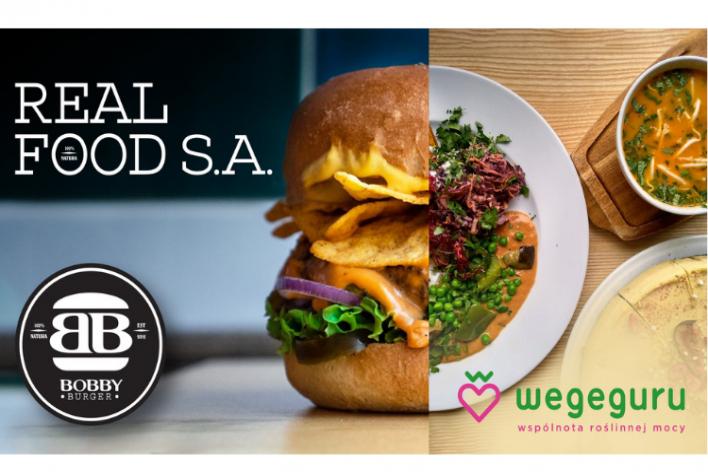 Real Food SA z markami Bobby Burger i Wegeguru w maju rozpoczyna kampanię.