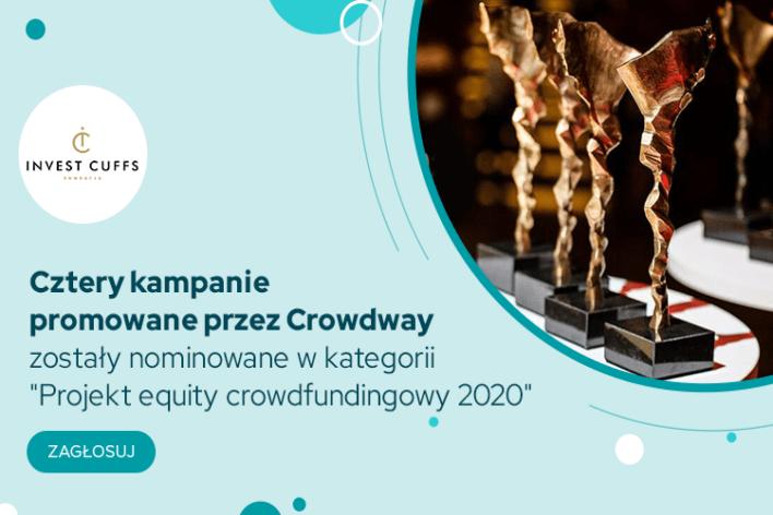 Invest Cuffs – Crowdway z czterema nominacjami
